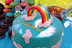 Rainbow cake | by crissis_2000 Cake Decorating, Birthday Cake, Rainbow, Desserts, Decorations, Cakes, Food, Rain Bow, Tailgate Desserts