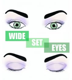 Beauty school: The proper shadow application for your eye shape. #wideseteyes www.ddgdaily.com