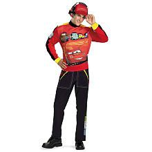 Disney Pixar Cars Lightning McQueen Halloween Costume - Adult X-Large 42-46