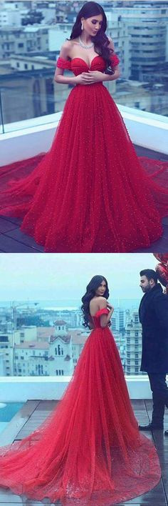 A-Line Prom Dresses #A-LinePromDresses, Red Prom Dresses #RedPromDresses, Prom Dresses 2018 #PromDresses2018