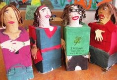 Self-Portrait Busts in Grade 6 | Art Lessons For Kids