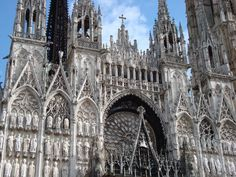 Rouen Cathedral (Cathédrale primatiale Notre-Dame de l'Assomption de Rouen), France (12th-16th century). I already knew the façade from the famous paintings by Monet, when I visited the cathedral for the first time in 1985.
