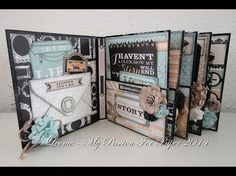 How to make hinges, spines and binding for mini albums and journals - YouTube