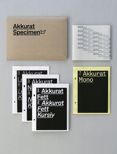 Akkurat font specimen, by Lineto