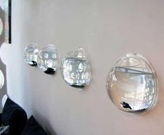 or this - mini fish tanks on the wall :)