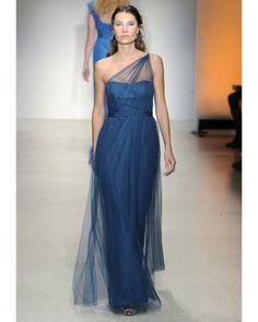 Alfred Angelo, Fall 2013 Bridesmaid Collection: Long Blue Bridesmaid Dress