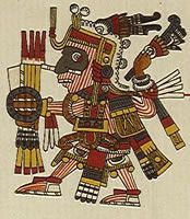 Mishkoatl (Mixcoatl) - inicialmente em chichimecas Mishkoatl deus da caça e respeitava-o como um veado. Mais tarde, quando os astecas estava associada ao culto de Uittsilopochtli e Quetzalcoatl . Mishkoatl era filho de Siuakoatl e pai de Shochiketsal . Ele matou Itspapalotl . Representando-o com uma lança na mão.