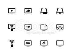 TV icons royalty-free stock vector art