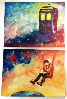 The Doctor and his TARDIS.
