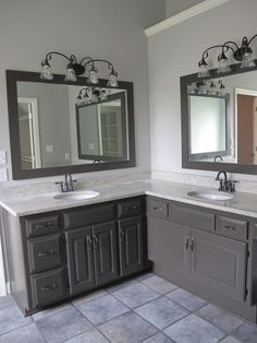 Light Gray Paint For Bathroom Cabinets