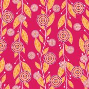 Pomegranate Seed Bouquets in Pink by robyriker, click to purchase fabric