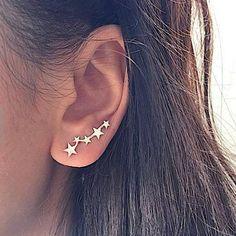 Cute Stud Earrings, Simple Earrings, Crystal Earrings, Women's Earrings, Silver Earrings, Diamond Earrings, Cluster Earrings, Silver Ring, Crystal Jewelry