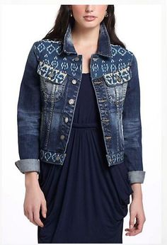aabce581f5543 Anthropologie Rancher Denim Jacket Sz S