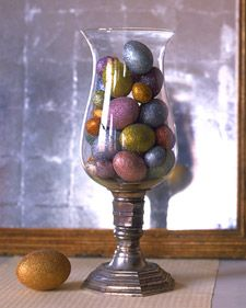 Glittered Eggs - Martha Stewart Holiday & Seasonal Crafts