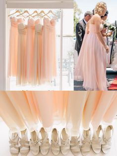 Pretty Peach Chiffon Bridesmaids Dress, try for different styles to avoid the uniform look