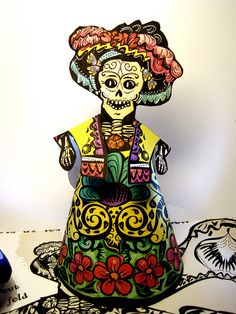 Day of the Dead Paper Doll by davis.jacque, via Flickr