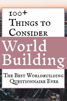 Worldbuilding can be the most difficult, or fun, part of the writing process. I've compiled a list of over 100 things to consider while worldbuilding. Creative Writing Tips, Book Writing Tips, Writing Process, Writing Help, Writing Skills, Writing Workshop, Writing Genres, Writing Worksheets, Fiction Writing