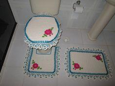 Jogo de banheiro Rosa Azul frete grátis | Elienes de Oliveira Ribeiro | Elo7