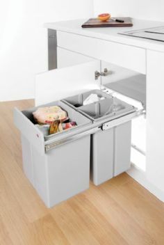 Kitchen Recycling Bin - Built in Wesco Bin