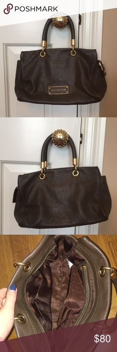 Marc by Marc Jacobs handbag Marc by Marc Jacobs handbag. Brown leather with gold hardware. Comes with dust bag. Only used 2 times and in excellent condition! Marc By Marc Jacobs Bags Mini Bags