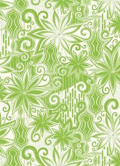 Khristian A. Howell Anthology Fabric in Moroccan Mirage - Star Jade Green