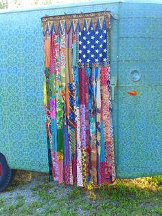 American Flag home decor door curtain by TheSleepyArmadillo