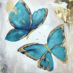 Set of 3 wall art abstract floral Butterfly blue art framed Paintings On Canvas Gold art heavy textured Wall Pictures cuadros abstractos - painting subjects Butterfly Acrylic Painting, Butterfly Art, Acrylic Painting Canvas, Butterflies, Texture Painting On Canvas, Butterfly Template, Butterfly Dragon, Canvas Canvas, Monarch Butterfly