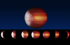 By tracking the phases of six exoplanets, astronomers have tracked their daily weather cycles for the first time.  This is an artist's rendering of an exoplanet with cloudy mornings and clear, scorching afternoons, exhibiting a cycle of phase variations that occur as different portions of the planet are illuminated by its star, as seen from Earth. Credit: Lisa Esteves