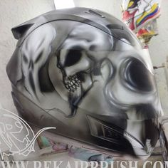 Rekairbrush Custom Airbrushed Motorcycle Helmet 613