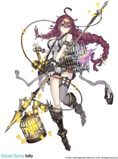 View an image titled 'Dorothy, Paladin Job Art' in our SINoALICE art gallery featuring official character designs, concept art, and promo pictures. Female Character Design, Character Design Inspiration, Character Concept, Character Art, Concept Art, Fantasy Characters, Anime Characters, Anime Weapons, Anime Kunst