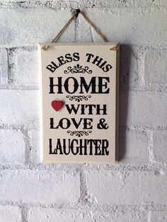 Wooden welcome sign, Bless this home. Home decor, kitchen sign, hallway sign, by AceSentimentalGifts on Etsy https://www.etsy.com/uk/listing/239955782/wooden-welcome-sign-bless-this-home-home