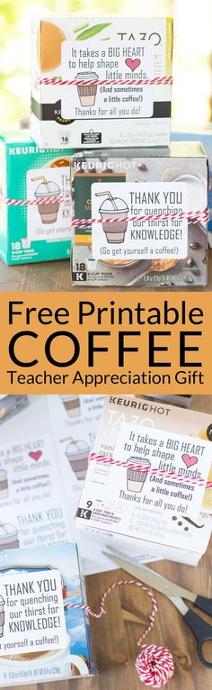The 5 Minute Coffee Teacher Appreciation Gift The end of school year is approaching! Tell your teacher thank you with this easy teacher appreciation gift and free printable gift tag featuring fun coffee sayings. Great idea for teacher appreciation week or Teacher End Of Year, End Of School Year, Teacher Thank You, School Teacher, Teacher Gifts, Teacher Sayings, School Staff, Teacher Tools, Sunday School