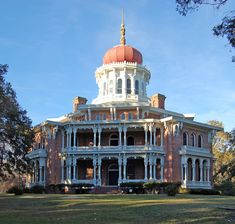 This unfinished mansion in Natchez, MS, is called Longwood -- a fascinating place to visit.