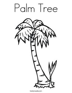 Palm Tree Coloring Page chicka-chicka-boom-boom Shark Coloring Pages, Tree Coloring Page, Coloring Pages To Print, Coloring Book Pages, Coloring Pages For Kids, Coloring Sheets, Palm Tree Sunset, Palm Trees, Palm Tree Crafts