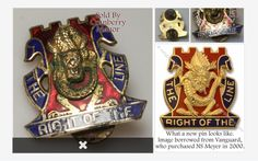 NS #Meyer #Army Crest Insignia Pin #Vintage #MidCentury 1960s #Military #Fraternal #Militaria #Jewelry #Gift Golden Dragons 14th Infantry Regiment The Right OT Line