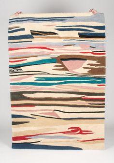 Hand Tufted Rug Desert Landscape by gypsya on Etsy