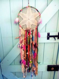 Charka healing energy balancing dreamcatcher boho by mistyso Fun Crafts, Diy And Crafts, Arts And Crafts, Dreamcatchers, Boho Dreamcatcher, Hippie Love, Crafty Craft, Boho Decor, Decoration