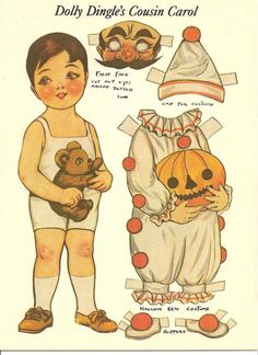 Dolly Dingle paper doll, Halloween.