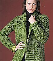 Lion Brand Pattern #: 50914AD, #crochet, free pattern, cardigan, jacket, Ravelry, #haken, gratis patroon (Engels), vest, jas, haakpatroon