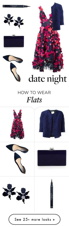 """summer date night"" by heloisacintrao on Polyvore featuring Notte by Marchesa, Erika Cavallini Semi-Couture, Cole Haan, Edie Parker and Christian Dior"