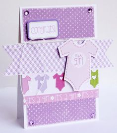 GretchenMcElveen for Bella Blvd using Core'dinations Spotted cardstock. LOVE the purple!
