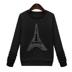 Casual Style Round Neck Long Sleeve Printed Women's Sweatshirt Sweatshirts & Hoodies   RoseGal.com Mobile