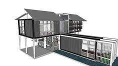 Container House - Casa de Playa Contenedores - 3D Warehouse