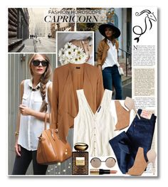 """""""My take on Capricorn"""" by katrinaalice ❤ liked on Polyvore featuring Marc by Marc Jacobs, American Eagle Outfitters, Levi's, Armani Beauty and Bobbi Brown Cosmetics"""