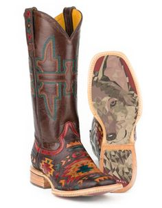 6edfb2e3f594a Tin Haul Womens South By Southwest w Wolf Sole Western Boots. Cowboy Boots  Square ToeCorral ...