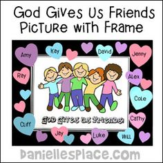 God Gives Us Friends Bible Craft and Activity from www.daniellesplace.com