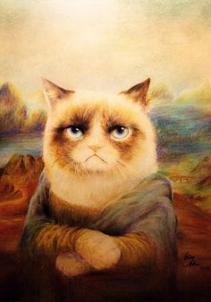 Mona No Lisa by qqClare on deviantART #GrumpyCat For more Grumpy Cat stuff, gifts, quotes and meme visit www.pinterest.com/erikakaisersot
