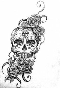 Sugar skull & Roses