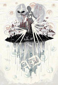 Bird and Cage: BioShock Series Poster by NCCreations on DeviantArt Bioshock Game, Bioshock Series, Bioshock Artwork, Rock Poster, Bioshock Infinite, Star Wars Art, Star Trek, Cool Art, Video Games
