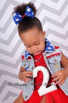 Red white and blue she's turning two!